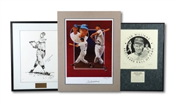 TED WILLIAMS LOT OF (3) AUTOGRAPHED ARTIST PROOF DISPLAY PIECES (SDHOC COLLECTION)