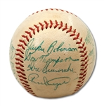 1954 BROOKLYN DODGERS TEAM SIGNED BASEBALL (SDHOC COLLECTION)