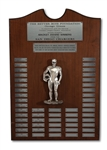 SAN DIEGO CHARGERS MACKEY AWARD WINNERS PLAQUE SPANNING 1970 TO 1988 (SDHOC COLLECTION)