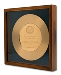CHARLIE MCNEILS SAN DIEGO CHARGERS ALL-TIME TEAM (SAFETY) GOLD PLATE AWARD (SDHOC COLLECTION)