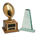 PAIR OF SAN DIEGO CHARGERS SPECIAL TEAMS PLAYER OF THE YEAR TROPHIES (SDHOC COLLECTION)