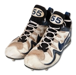 1999 JUNIOR SEAU SAN DIEGO CHARGERS GAME WORN CLEATS (SDHOC COLLECTION)
