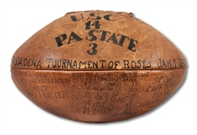 1923 ROSE BOWL GAME USED FOOTBALL (USC 14 - PENN STATE 3) - FIRST ROSE BOWL GAME PLAYED IN ROSE BOWL STADIUM (SDHOC COLLECTION)