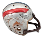 1937 GIL KUHN (USC) COLLEGE ALL-STAR GAME WORN SPALDING HELMET WITH RARE STYLE FACE GUARD (SDHOC COLLECTION)