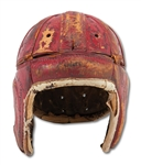1937 USC TROJANS TEAM SIGNED SPALDING LEATHER HELMET INCL. HOWARD JONES, AMBY SCHINDLER, GRENNY LANSDELL, ETC. (SDHOC COLLECTION)