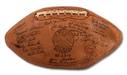 1939 USC TROJANS NATIONAL CHAMPION TEAM SIGNED FOOTBALL (SDHOC COLLECTION)