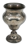1921 SECOND ANNUAL ARMISTICE DAY FOOTBALL GAME (NAVY 24 - ARMY 0) STERLING SILVER TROPHY (SDHOC COLLECTION)