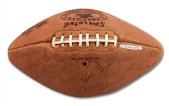 "OFFICIAL AFL (JOE FOSS) FOOTBALL SIGNED BY INAUGURAL COMMISSIONER FOSS AND SEVERAL ORIGINAL AFL ""FOOLISH CLUB"" OWNERS (SDHOC COLLECTION)"