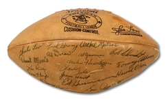 1961 AFL ALL-STAR TEAM SIGNED OFFICIAL AFL FOOTBALL (SDHOC COLLECTION)