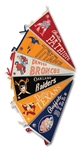 LOT OF (6) 1960-62 AFL TEAM PENNANTS (SDHOC COLLECTION)