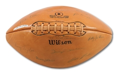 1963 CHICAGO BEARS NFL CHAMPION TEAM SIGNED FOOTBALL WITH 25 AUTOGRAPHS INCL. HALAS & DITKA (SDHOC COLLECTION)