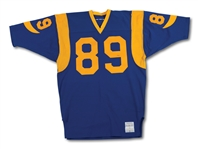 C.1978 FRED DRYER LOS ANGELES RAMS GAME WORN JERSEY WITH TEAM REPAIRS (SDHOC COLLECTION)