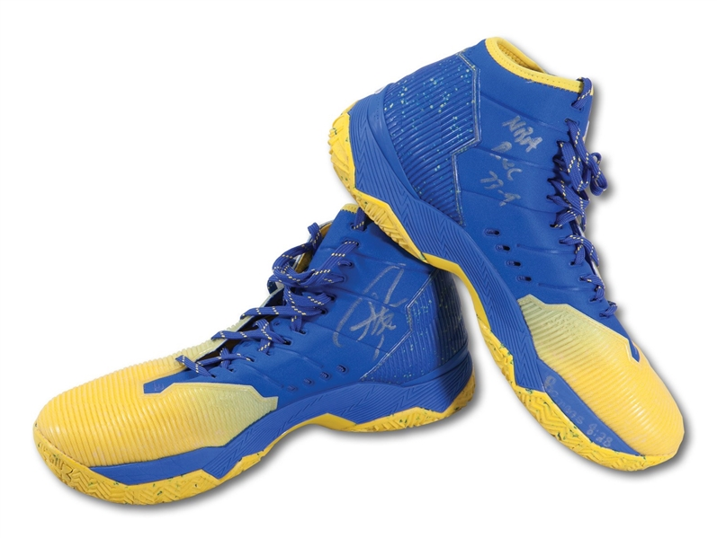 5/11/2016 STEPHEN CURRY PLAYOFF GAME WORN & SIGNED SHOES (MVP, 73-9 SEASON) PHOTOMATCHED TO GAME 5 CLINCHER VS. POR - 29 PTS. & 11 AST. (FANATICS, RESOLUTION LOA)