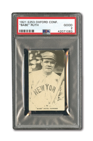 1921 E253 OXFORD CONFECTIONERY BABE RUTH PSA GOOD 2