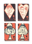 1925-29 UNIVERSAL TOY AND NOVELTY STRIP CARD LOT OF (4) INCL. BABE RUTH AND LOU GEHRIG