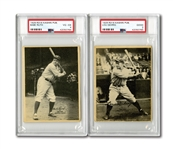 1929 R316 KASHIN PUBLICATIONS NEW YORK YANKEES LOT OF (7) INCL. BABE RUTH AND LOU GEHRIG