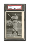 "1929-30 R315 ""PORTRAITS AND ACTION"" BABE RUTH PSA VG 3"