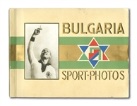 "1932 GERMAN ""BULGARIA SPORTS-PHOTOS"" COMPLETE TOBACCO CARD COLLECTION (272) IN ORIGINAL ALBUM INCL. BABE RUTH"