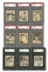 1948 BOWMAN COMPLETE SET OF (48) WITH 25 GRADED INCL. STAN MUSIAL ROOKIE PSA VG-EX 4