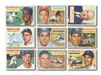 1956 TOPPS BASEBALL GROUP OF (712) CARDS INCL. MINOR STARS & HOFERS (MANY DUPLICATES)