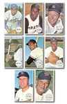 1964 TOPPS GIANTS COMPLETE SET OF (60) WITH 119 DUPLICATES INCL. MANY HOFERS (MULTIPLE MANTLE, CLEMENTE & KOUFAX) – MISSING 6 CARDS TO MAKE 2 COMPLETE SETS