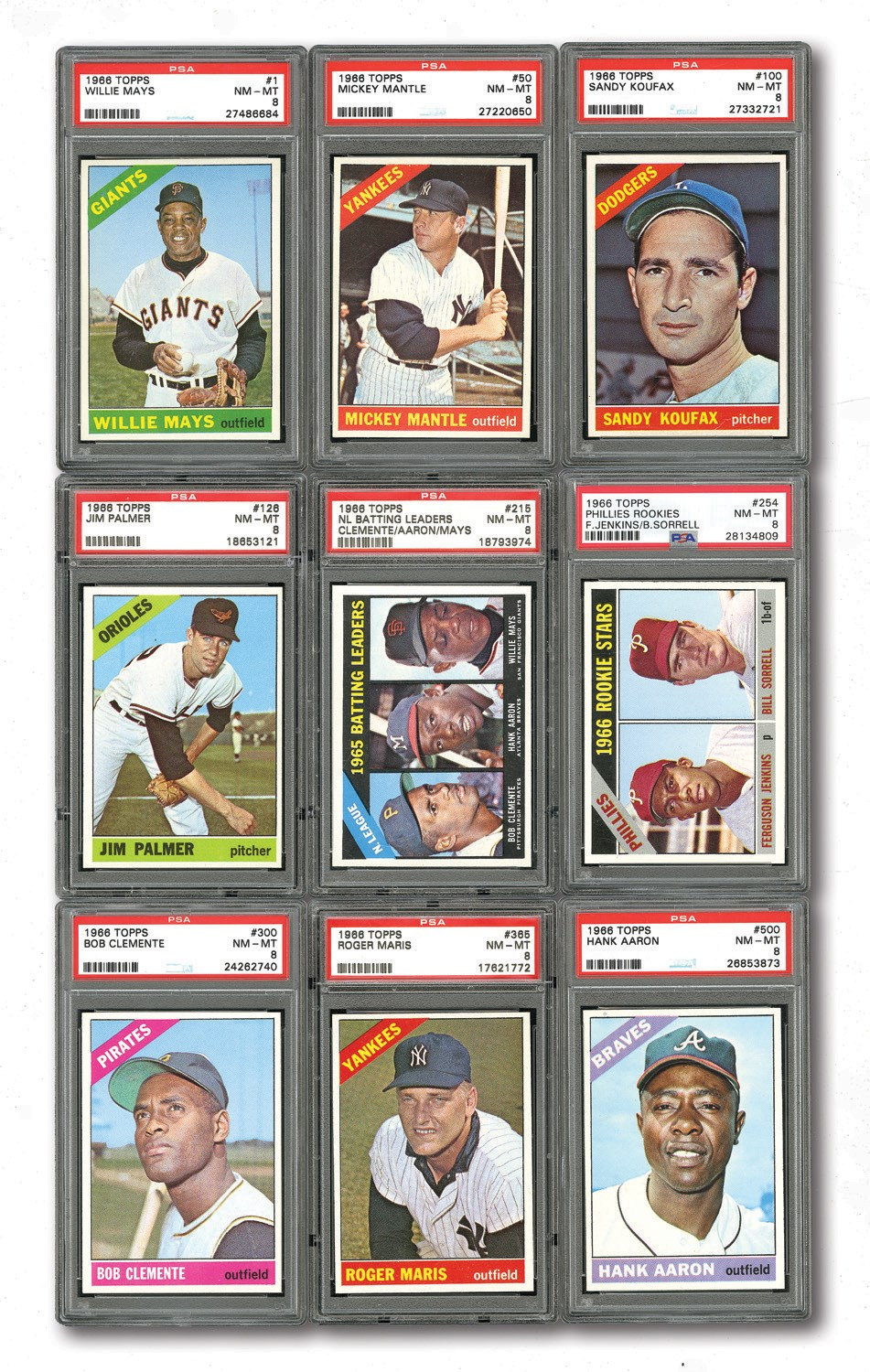 Lot Detail 1966 Topps Master Complete Set 80 Gpa Ranked