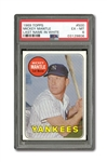 1969 TOPPS #500 MICKEY MANTLE (WHITE LETTERS) PSA EX-MT 6