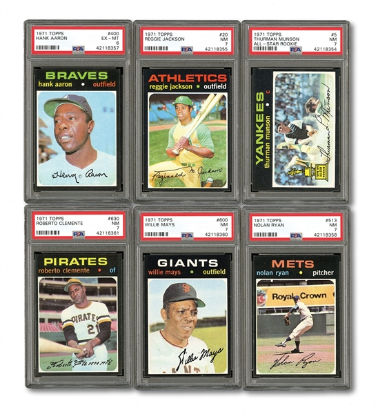 1971 TOPPS BASEBALL COMPLETE SET OF (752)