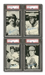 1974 TOPPS DECKLE EDGE PARTIAL SET (50/72) INCL. PETE ROSE AND (8) OTHER HOFERS