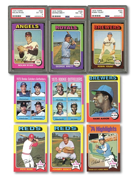1975 TOPPS BASEBALL COMPLETE SET (660) - HIGH GRADE FROM VENDING