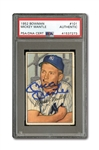 1952 BOWMAN #101 MICKEY MANTLE AUTOGRAPHED PSA/DNA AUTHENTIC
