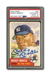 1953 TOPPS #82 MICKEY MANTLE AUTOGRAPHED PSA/DNA GEM MINT 10 (AUTO.)
