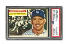 1956 TOPPS #135 MICKEY MANTLE AUTOGRAPHED PSA/DNA GEM MINT 10 (AUTO.)