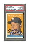 1958 TOPPS #150 MICKEY MANTLE AUTOGRAPHED PSA/DNA GEM MINT 10 (AUTO.)