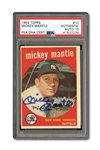 1959 TOPPS #10 MICKEY MANTLE AUTOGRAPHED PSA/DNA GEM MINT 10 (AUTO.)