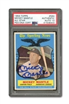 1959 TOPPS #564 MICKEY MANTLE ALL-STAR AUTOGRAPHED PSA/DNA GEM MINT 10 (AUTO.)