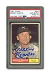 1961 TOPPS #300 MICKEY MANTLE AUTOGRAPHED PSA/DNA GEM MINT 10 (AUTO.)