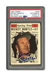 1961 TOPPS #578 MICKEY MANTLE ALL-STAR AUTOGRAPHED PSA/DNA MINT 10 (AUTO.)