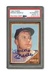 1962 TOPPS #200 MICKEY MANTLE AUTOGRAPHED PSA/DNA GEM MINT 10 (AUTO.)