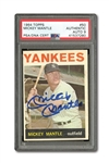 1964 TOPPS #50 MICKEY MANTLE AUTOGRAPHED PSA/DNA MINT 9 (AUTO.)