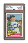 1965 TOPPS #350 MICKEY MANTLE AUTOGRAPHED PSA/DNA GEM MINT 10 (AUTO.)