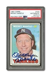 1967 TOPPS #150 MICKEY MANTLE AUTOGRAPHED PSA/DNA MINT 9 (AUTO.)