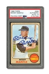 1968 TOPPS #280 MICKEY MANTLE AUTOGRAPHED PSA/DNA GEM MINT 10 (AUTO.)