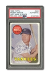 1969 TOPPS #500 MICKEY MANTLE (LAST NAME IN WHITE) AUTOGRAPHED PSA/DNA AUTHENTIC