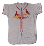 1954 WALLY MOON ST. LOUIS CARDINALS (ROOKIE OF THE YEAR) GAME WORN ROAD JERSEY FROM THE DELBERT MICKEL COLLECTION