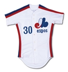 1980 TIM RAINES MONTREAL EXPOS ROOKIE GAME WORN HOME JERSEY (VINCE COLEMAN LOA)
