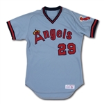 1982-84 ROD CAREW CALIFORNIA ANGELS GAME WORN ROAD JERSEY (MEARS A10)
