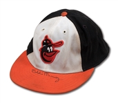 MID-1980S EDDIE MURRAY AUTOGRAPHED BALTIMORE ORIOLES GAME WORN CAP (ORIOLES EXECUTIVE LOA)
