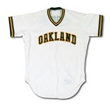 1986 MARK MCGWIRE OAKLAND AS (DEBUT SEASON) GAME WORN HOME JERSEY