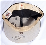 C. 1987-92 BARRY BONDS AUTOGRAPHED PITTSBURGH PIRATES GAME WORN CAP